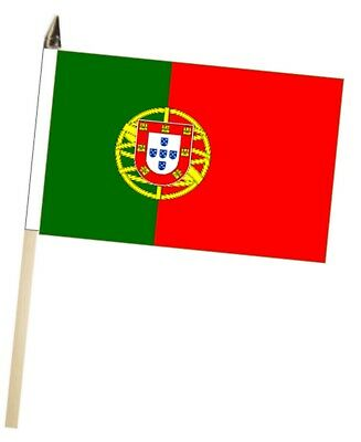 Portugal Large Hand Waving Courtesy Flag