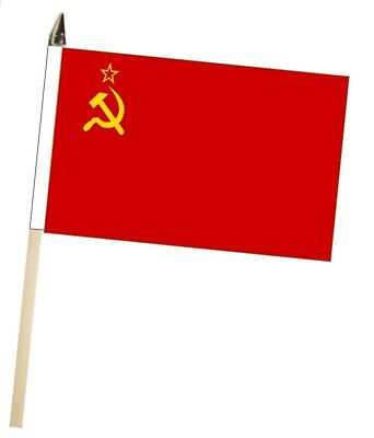 USSR Soviet Union Russia Large Hand Waving Courtesy Flag