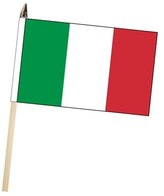 Italy Large Hand Waving Courtesy Flag