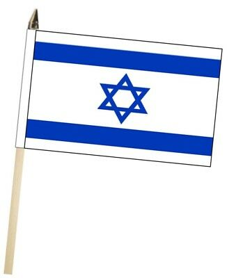 Israel Large Hand Waving Courtesy Flag