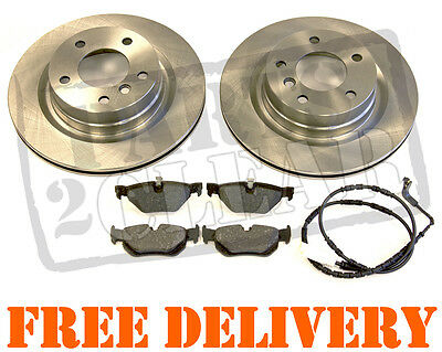 Bmw E90 E91 320 Td Rear Brake Discs And Pads & Sensor New 3 Series 2005-2011