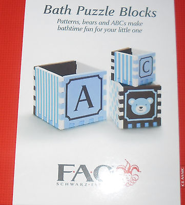 Fao Schwarz Blue Bath Puzzle Blocks New!