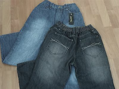 """Tubby Fit Boys Jeans - From Age 9 Upto 42"""" Waist - Normal Or Black Denim"""