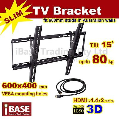 "HDMI LCD LED PLASMA TILT TV WALL MOUNT BRACKET 32 - 75 "" inch"