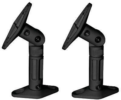 Black - 2 Pack Lot - Universal Wall or Ceiling Speaker Mounts Brackets fits BOSE
