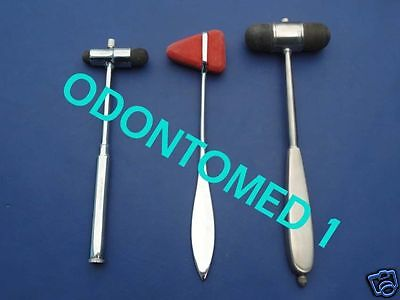 3 Neurogical Hammers Set Chiropractic Physical Therapy