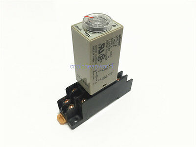 2 sets H3Y-2 Power On Delay Timer Time Relay 12V DC 10sec 10s DPDT With Base