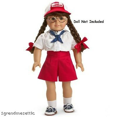 AMERICAN GIRL MOLLY'S CAMP OUTFIT NIB NRFB Doll Not Included Retired Shorts Hat