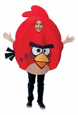 Angry Bird Costume Light up w// pillow case Kids Unisex Red  Boys Size 5-8 S M L