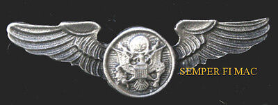 MINI US AIR FORCE AIRCREW WING US ARMY AIR CORPS PEWTER HAT PIN MADE IN USA AFB