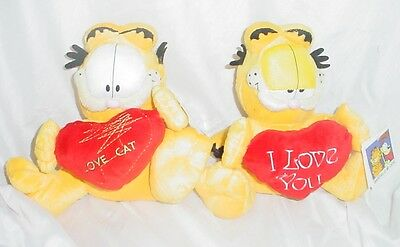9 Inch Garfield Soft Cuddly Toy with Love Heart Message (WH8)