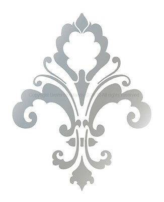 FLEUR DE LIS Decorative Designer Stencil CHIC WALL DECOR Damask Mural #3004