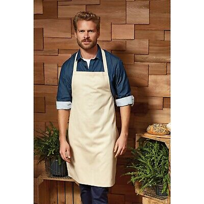 Premier Colours Bib Apron - Kitchen Baking Cooking Barbecue Hospitality - 28 Col