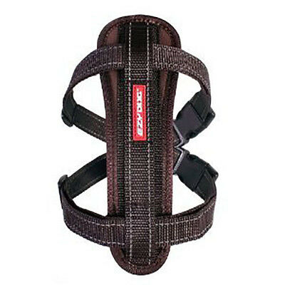 EzyDog Chocolate Chest Plate Dog Harness - Choice of Sizes
