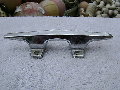 "6.25"" Old Chrome Ship Boat Dock Cleat Chock Decor (0035)"