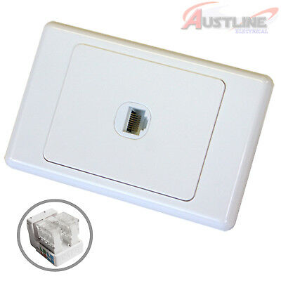 RJ45 Cat6 1Gang Network LAN Jack with1Port DATAMASTER® Wall Plate dw1C90