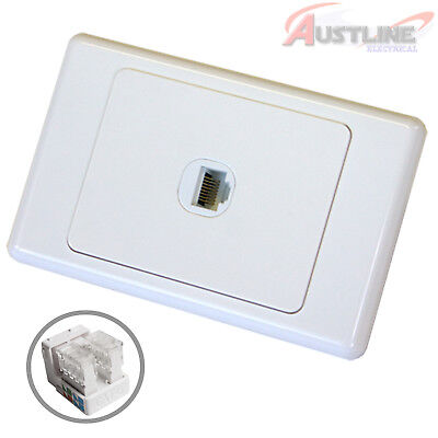 RJ45 Cat6 1Port DATAMASTER® Wall Plate with 1Gang Network LAN Jack dw1C90
