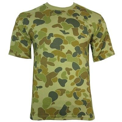 AUSTRALIAN CAMO / CAMOUFLAGE MILITARY T-SHIRT - All Sizes Aussie Army Top Cotton