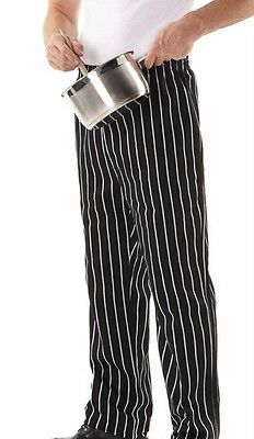 New Chef Striped Pants Restaurant Bars Hotel Kitchen Mens Ladies Black White 5SP
