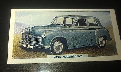 1949 HILLMAN MINX Orig  Colour Swap Card UK