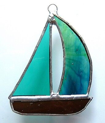YACHT stained glass suncatcher boat sailing racing sport fishing prize gift new