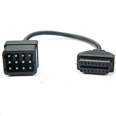 Renault 12 Pin OBD to 16 pin OBD2  Diagnostic Cable Adaptor for Cars