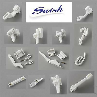 SWISH Track Gliders, Brackets, Curtain Hooks, Joiners, Overlap & Cord Sets