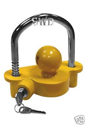 Boat or horse box trailer lock coupling security tow ball style trailor security