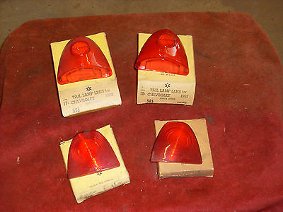 1953 Chevrolet Upper Inner Tail Stop Lamp Lens Light MATCHED PAIR w FREE SHIPP