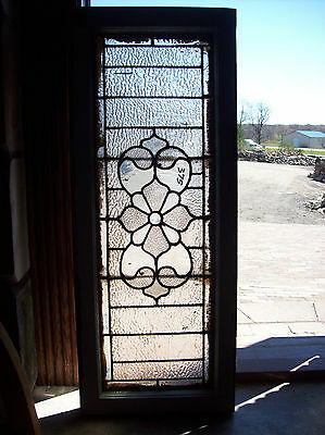 Textured transom window with floral center (SG 1217)