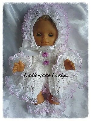 Knitting Pattern #56 (NOT THE KNITTED ITEM) Matinee Set Premature Baby/Reborn