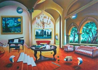 "FERJO GICLEE ON CANVAS  ""MUSICAL ROOM""   31"" x 22"""