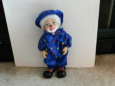 Porcelain Faced  Clown Doll - Wind up Musical (moves)