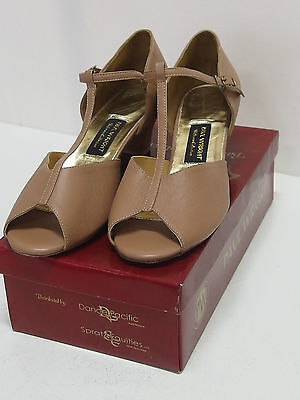 Paul Wright Leather Ballroom Shoes, Tan, Women's or Girl's Sizes, New