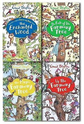 Enid Blyton The Magic Faraway Tree Collection 4 Books Box Set Pack Children Book