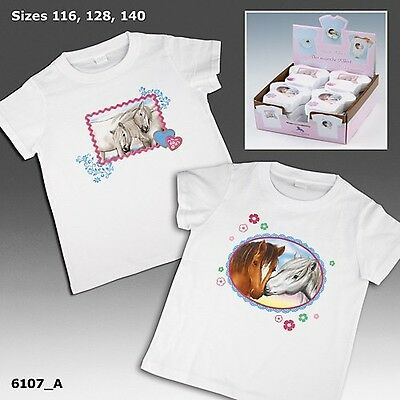 Horses Dreams T-Shirt Kindershirt Pferde T-Shirt pressed Shirt Größe 116 weiß