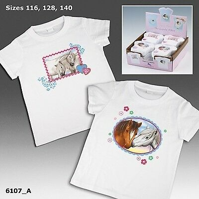 Horses Dreams T-Shirt Kindershirt Pferde T-Shirt pressed Shirt Größe 116 braun w