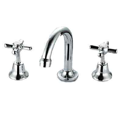 Novara 3 Piece Basin Tap Faucet Set Bathrooms Sink Vanity Taps Water Faucet