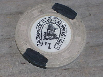 $1 VINTAGE 12TH ED CHIP FROM THE HORSESHOE CLUB CASINO LV NV