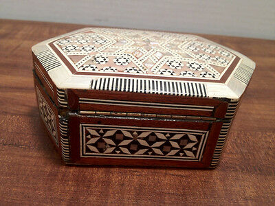 Trinket Box with Inlay and Beautiful Corner Design