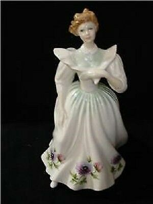 Royal Doulton Pretty Ladies March Figure Of The Month Hn 2707 Anemone Flowers