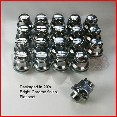 20 x Flat Seat alloy wheel nuts fits Toyota Avensis Celica MR2 Supra Rav4