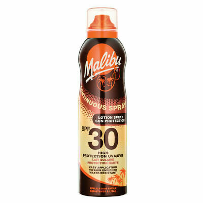 Malibu Continuous Spray Sun Tan Lotion SPF 30 175ml