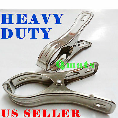 NEW 2 / 4 / 8 / 12 LARGE Stainless Steel Heavy Duty Hanging clips Spring Clamps