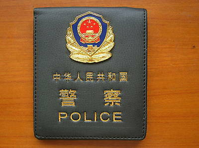 1989's series China Police MINI Badge Cattle Leather ID Holder Wallet