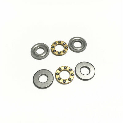5pcs Axial Ball Thrust Bearing F4-10M 4x10x4mm 3-Parts Miniature Plane Bearing