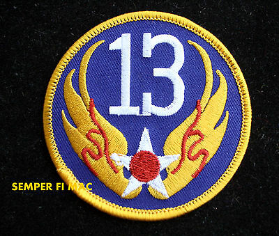 13TH US ARMY AIR CORPS US AIR FORCE HAT PATCH PACAF Hickam AFB HI PIN UP WOW