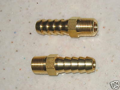 2 x 1/8npt FACET FUEL PUMP HOSE ADAPTOR FITTINGS FOR 10mm HOSE