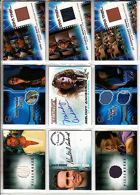 TRADING CARDS:Planche N° 1 COSTUMES,AUTOGRAPHS  divers