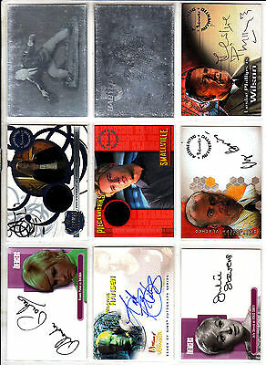 TRADING CARDS:Planche N° 14      COSTUMES,AUTOGRAPHS  divers